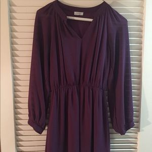 Plum Long-Sleeve Dress